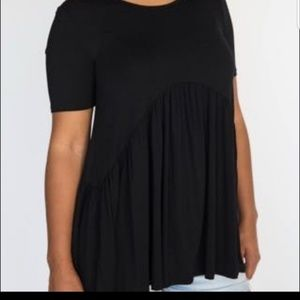 Muse Tunic in Modal Black by Agnes & Dora